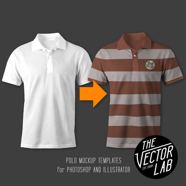 Men's Polo Mockup Templates - Photoshop PSD and Adobe Illustrator