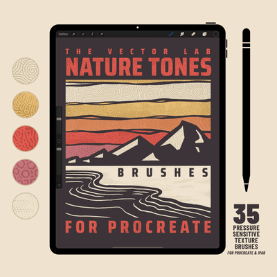 Nature Tones Brushes for Procreate iPad