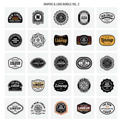 New Lineup - Graphic Logo Bundle Vol. 2