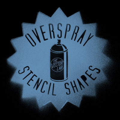 Overspray Spray Paint Stencil Shapes for Photoshop and Illustrator
