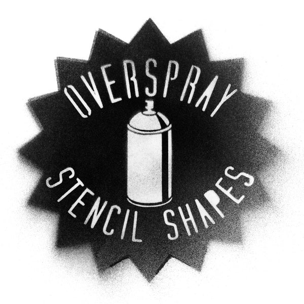 Overspray Spray Paint Stencil Shapes Textures and Backgrounds for Photoshop and Illustrator