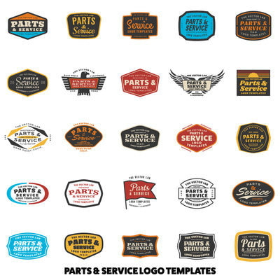 Parts & Service Logo Templates - Logo Design Master Collection