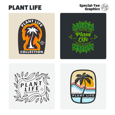 Plant Life Graphic Logo Templates for Adobe Affinity CorelDraw