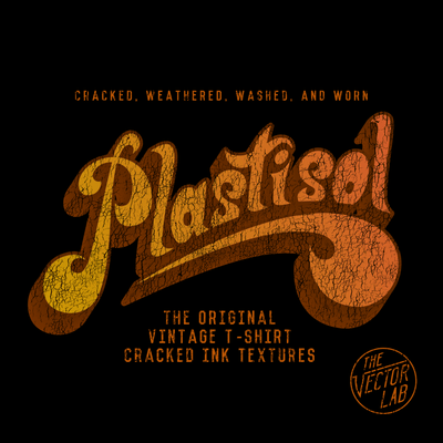 Plastisol Cracked T-Shirt Ink Textures for Photoshop and Illustrator