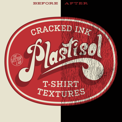 Plastisol Cracked T-Shirt Ink Textures