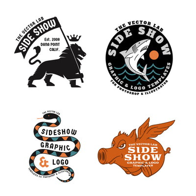 Graphic & Logo Bundle Vol 1 - Side Show