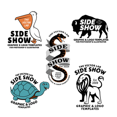 Graphic & Logo Bundle Vol 1 - Side Show - Animals and Mascots