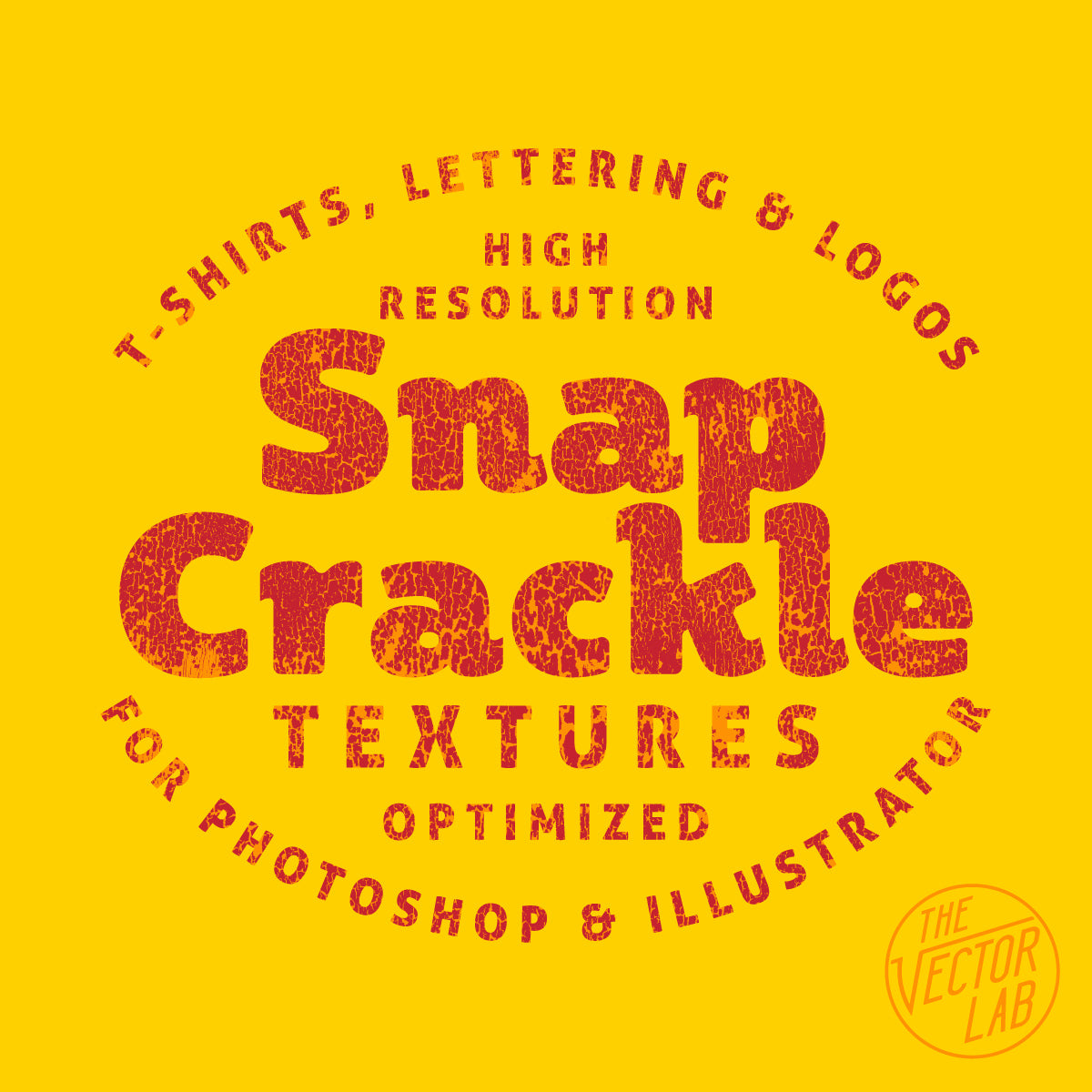 Snap Crackle - Paint Crackle Textures for Photoshop and Illustrator