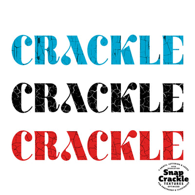 Snap Crackle - Paint Crack Textures for Photoshop and Illustrator