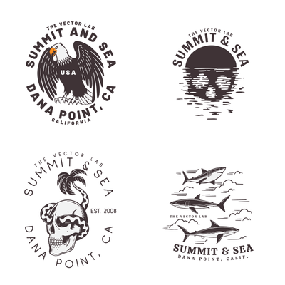 Summit and Sea - Graphic Logo Bundle Vol. 3