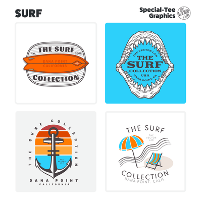 Surf Graphic Logo Templates for Adobe Affinity CorelDraw