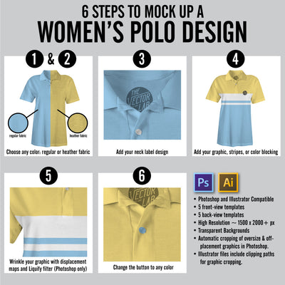 6 Steps to Mock Up a Women's Polo Design