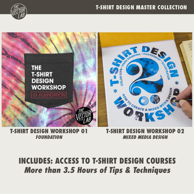 T-Shirt Design Master Collection - Workshops - TheVectorLab