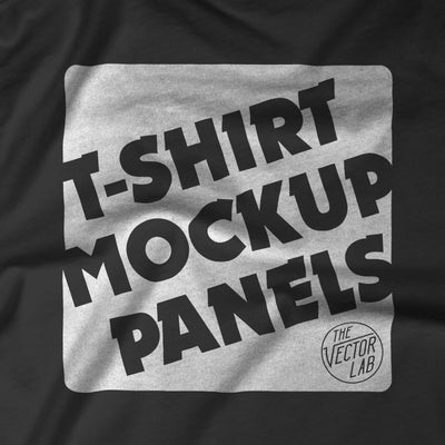 T-Shirt Mockup Panels for Photoshop and Illustrator