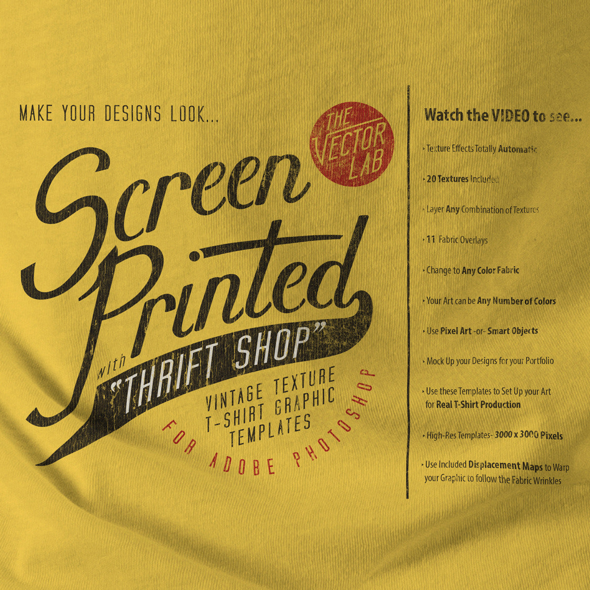 thrift shop vintage t shirt texture template thevectorlab