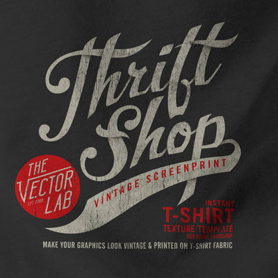 Thrift Shop: Textured T-Shirt Panel Mockup Templates