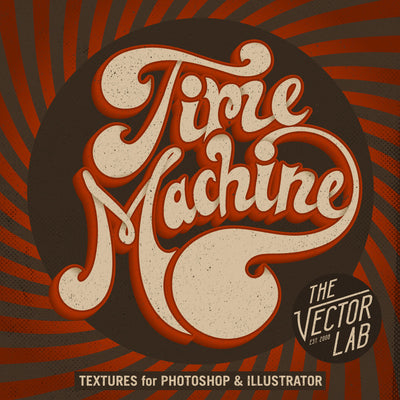 Time Machine Textures for Photoshop and Illustrator