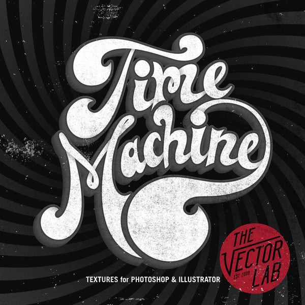 Time Machine Vintage Textures for Photoshop and Illustrator