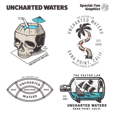 Uncharted Waters - Nautical graphic templates for Adobe