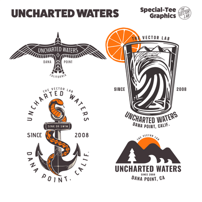 Uncharted Waters - Nautical graphic templates
