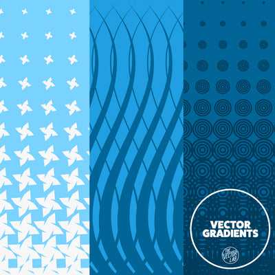 25 Seamless Vector Gradient Textures for Photoshop, Illustrator, CorelDraw, and Affinity Designer