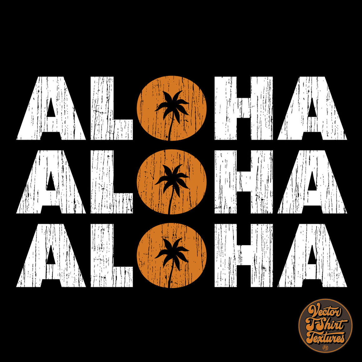 Aloha Vector T-Shirt Textures for Illustrator and Photoshop