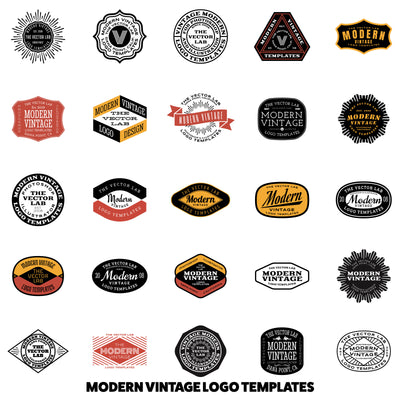 Modern Vintage Logo Templates - Logo Design Master Collection