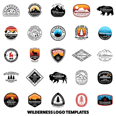 Wilderness Logo Templates - Logo Design Master Collection