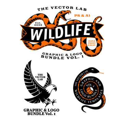 Graphic & Logo Bundle Vol 1 - Wildlife