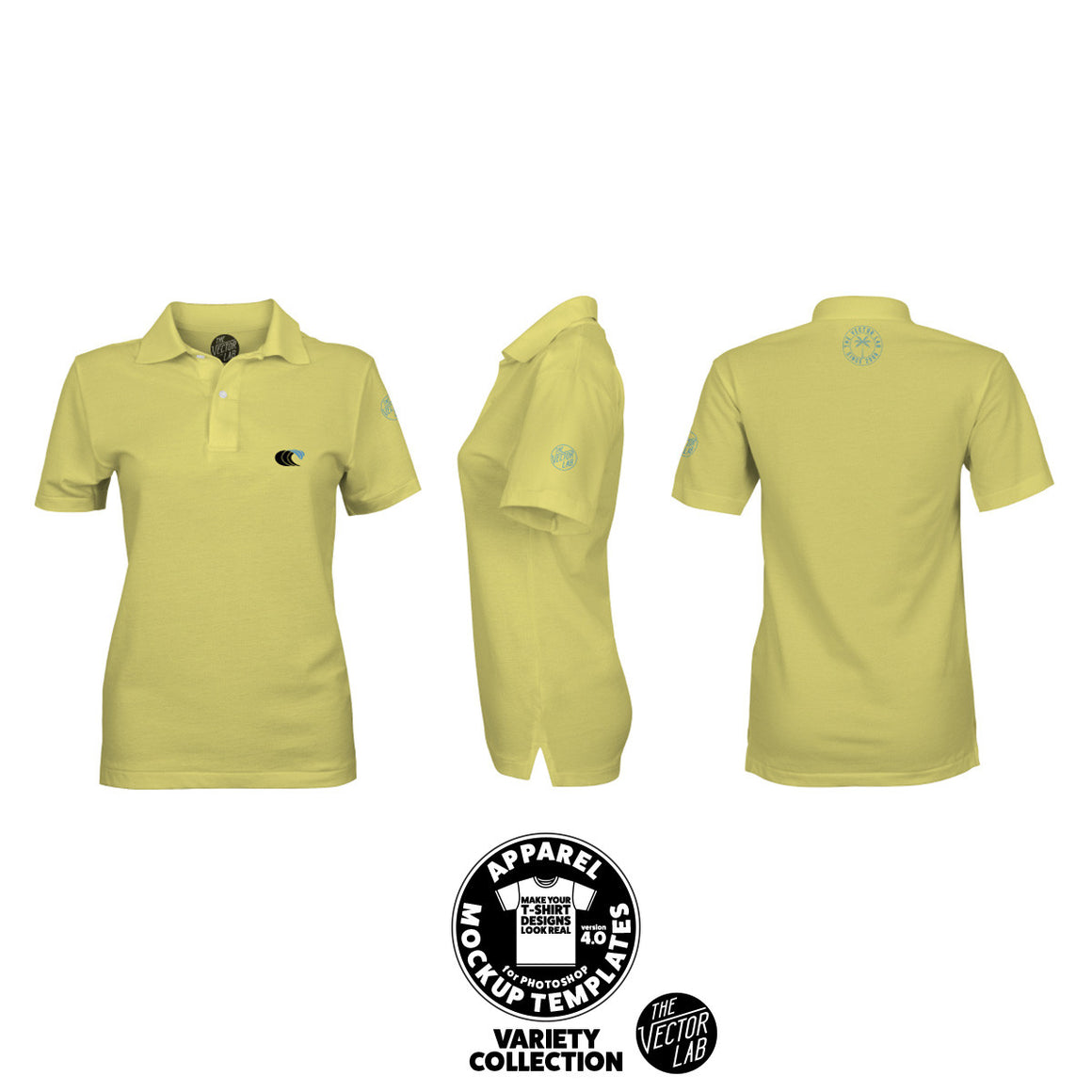 Women's Polo Shirt Mockup Templates for Photoshop