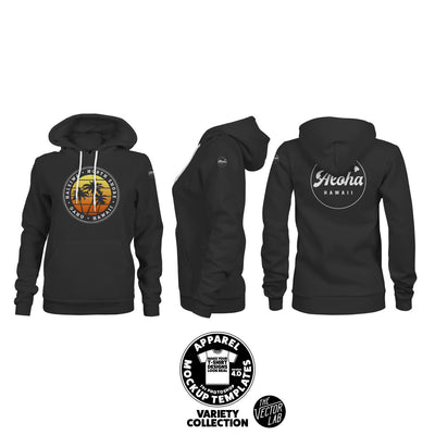 Women's Pullover Hoodie Mockup Templates for Photoshop