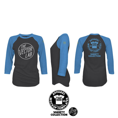 Women's Raglan T-Shirt Mockup Templates for Photoshop