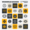 Workwear Modern Graphic & Logo Templates for Adobe, Affinity, Corel