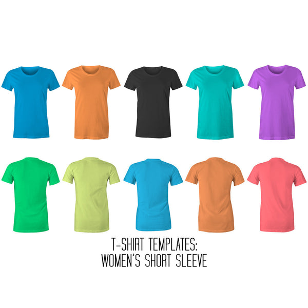Women's T-Shirt Mockup Templates for Photoshop and Illustrator