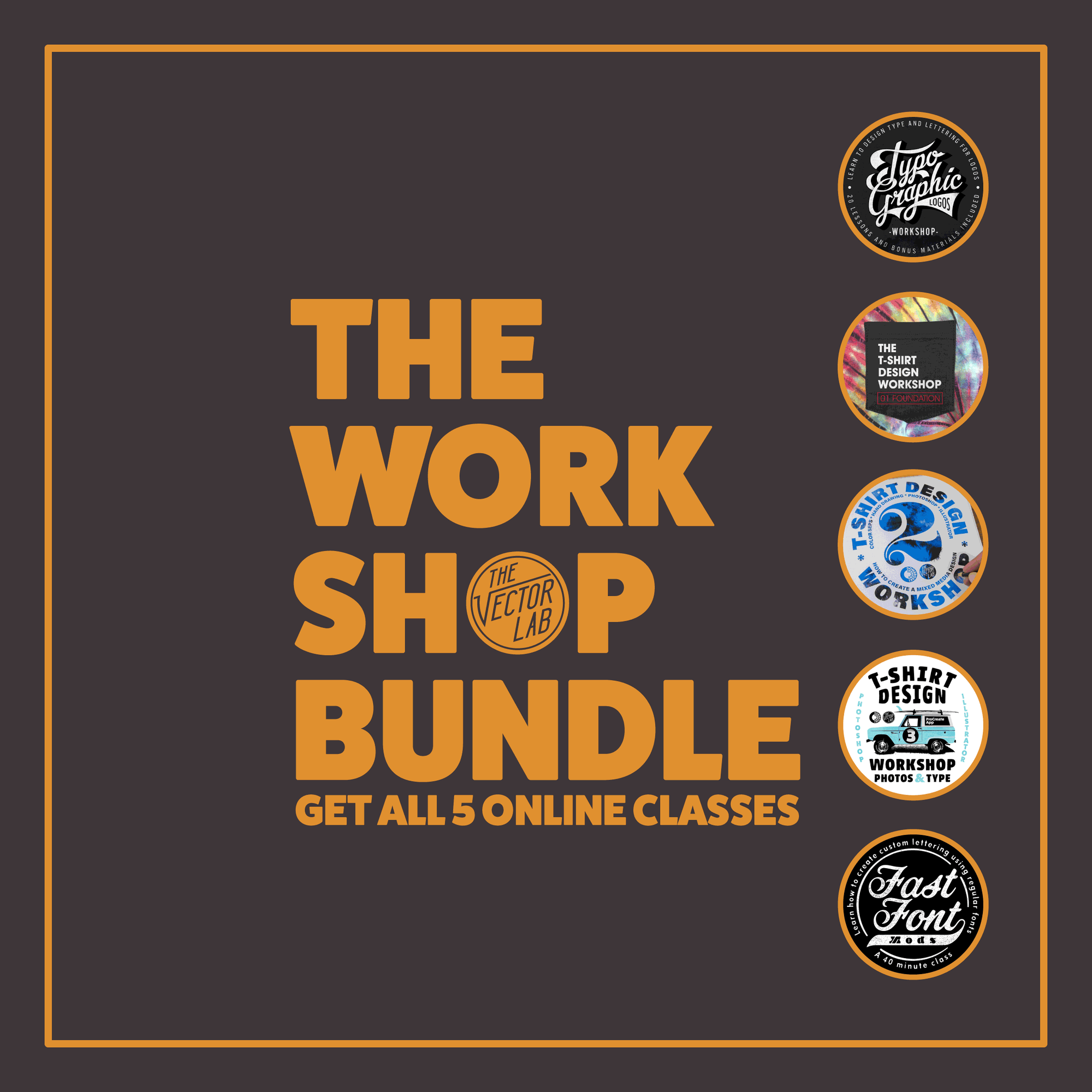 The Workshop Bundle - Learn Lettering and T-Shirt Design