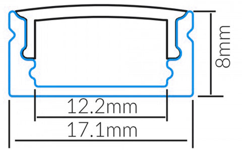 led profile made from aluminium for led strip lighting