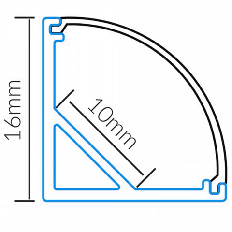 corner set aluminium profile for led strip lighting