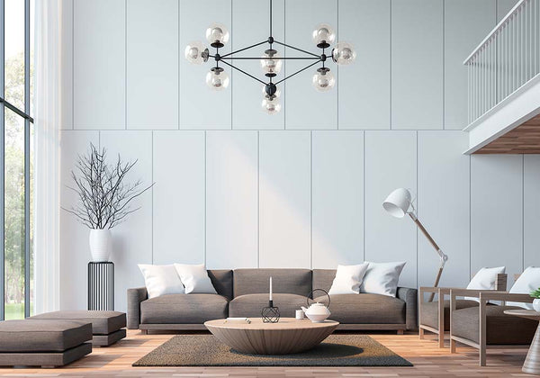 Replica Modo 10 Light Chandelier in black