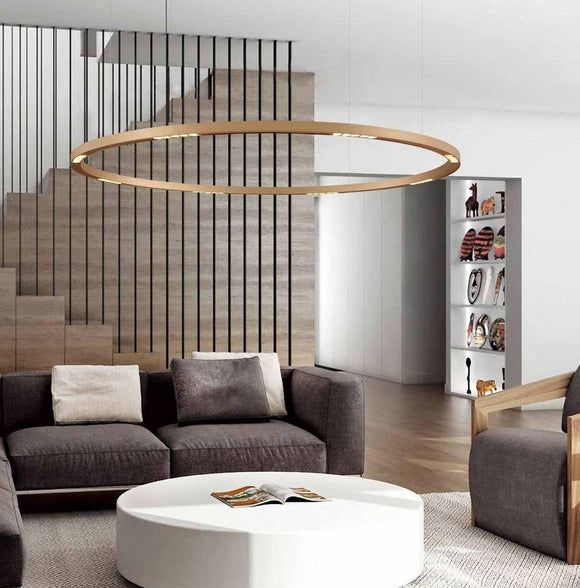 Allure Round Suspension Halo Pendant in 60cm 90cm & 120cm