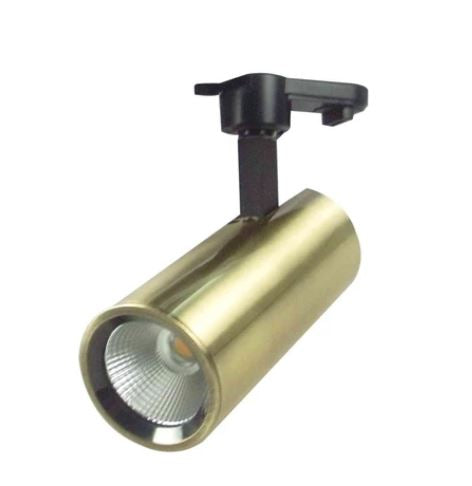 Stealth 15W LED Satin Brass Track Light in 3000K Warm White