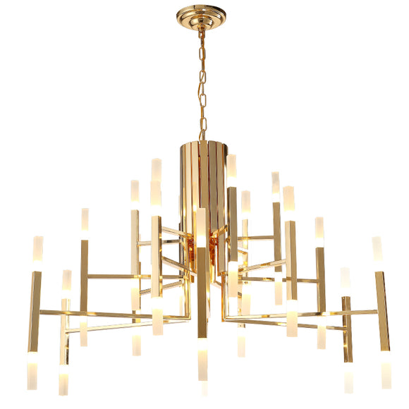 Royale Chandelier Gold Finish in 68m or 102cm