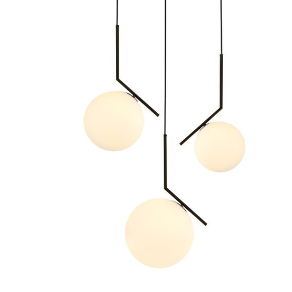Replica Flos IC4 pendant light in 20cm or 30cm Gold, Chrome, Black, White or Rose Gold