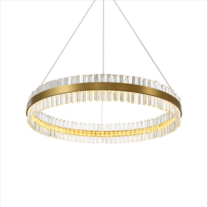Natural Ice Deco Circular Brass Pendant in Various Sizes