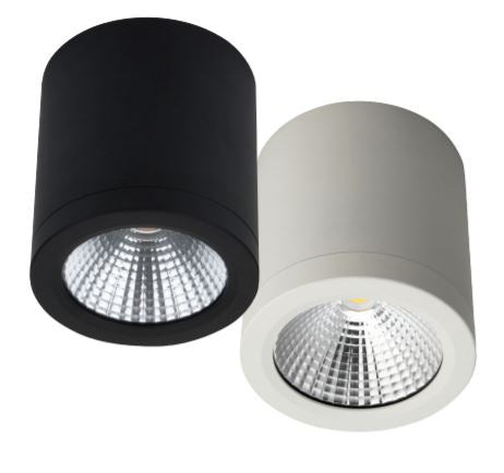Midpoint Splash 13W Surface Mounted LED Downlight in Matt Black or White