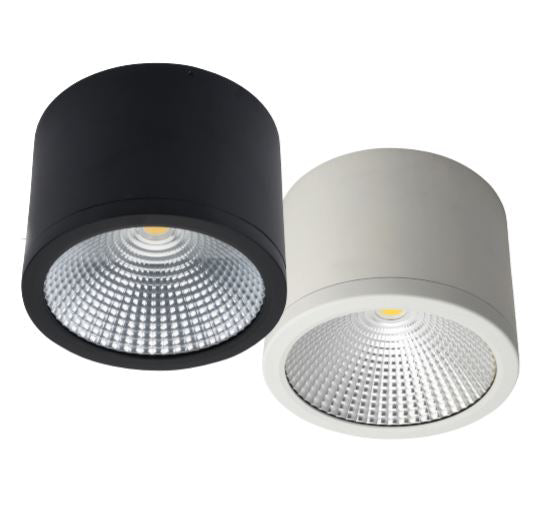 Midpoint Splash 35W Surface Mounted LED Downlight in Matt Black or White