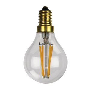 E14 dimmable filament LED globe 4W warm white 2700K clear vintage retro