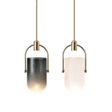 Embrace 10W LED Gold Pendant Light with Smoke or Milky Glass