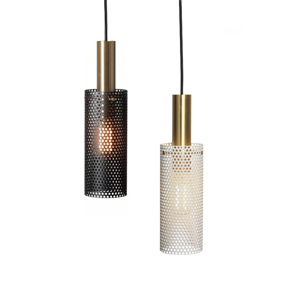 Sleek Modern Industrial 10cm Pendant Light in White or Black