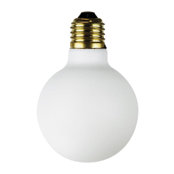 dimmable G95 opal matt LED globe porcelain frosted 4W 2700K