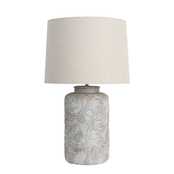 Androw Romantic 55cm Embossed Floral Table Lamp